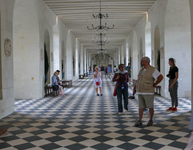 The grand gallery of Château de Chenonceau