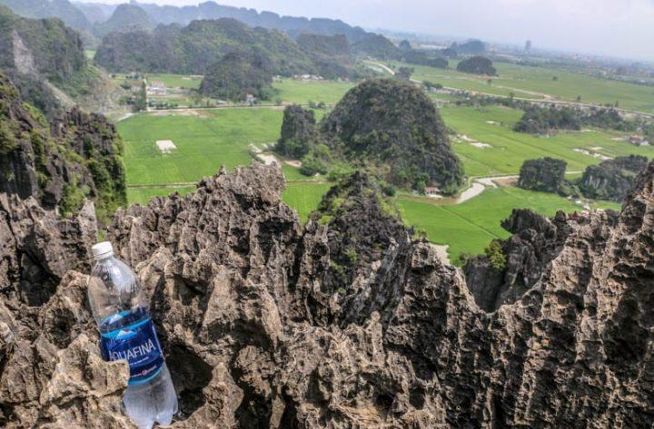 plastic water bottle in vietnam