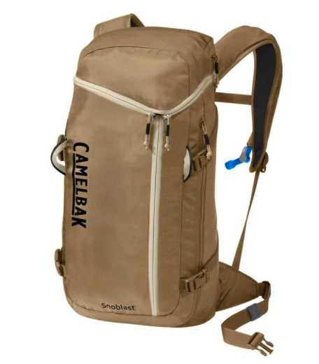 CamelBak Hydration Pack carries two liters of water. Good for traveling without plastic water bottles