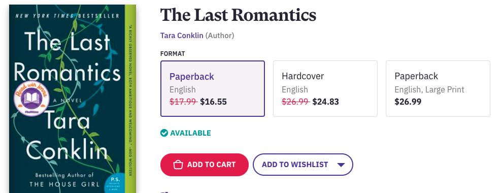 The Last Romantics advert