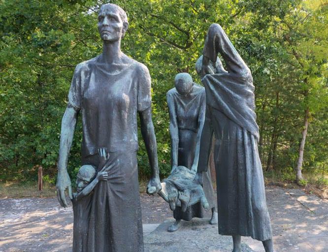 A powerful memorial near the Ravensbrück Concentration Camp