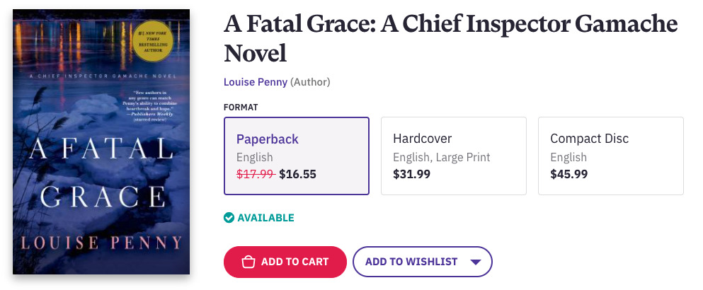 Fatal Grace Advert