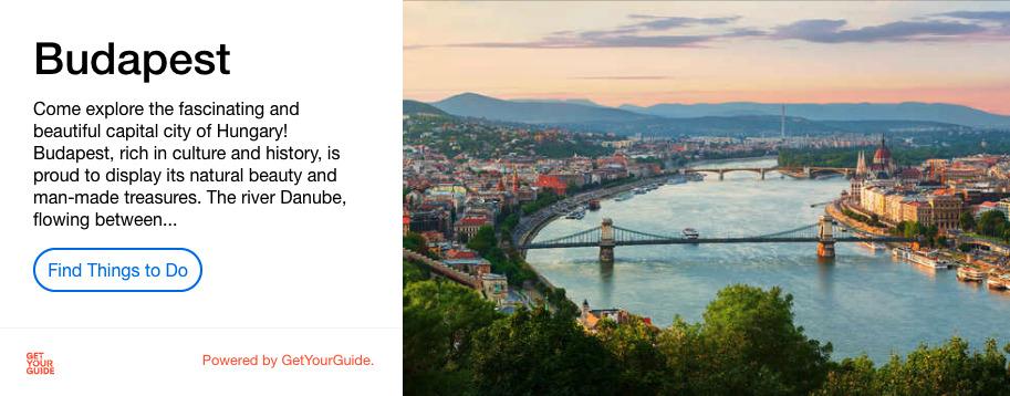 Budapest GetYourGuide Activity Advert