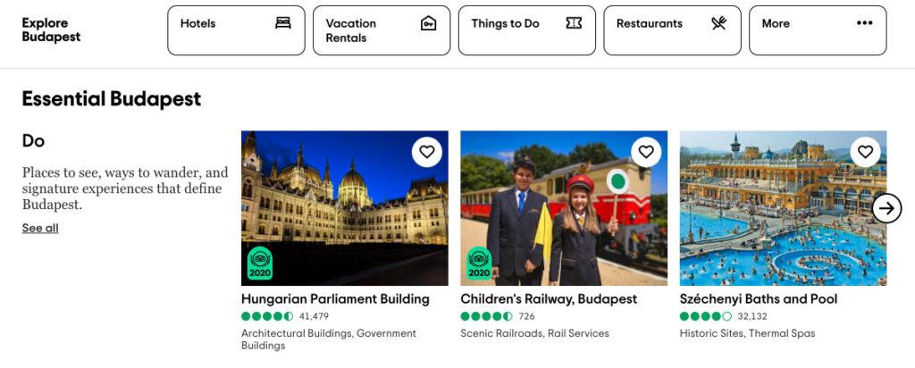 Budapest TripAdvisor Activity Advert