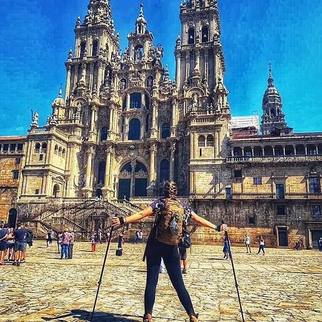 Santiago de Compostela Cathedral  is the destination after walking across spain