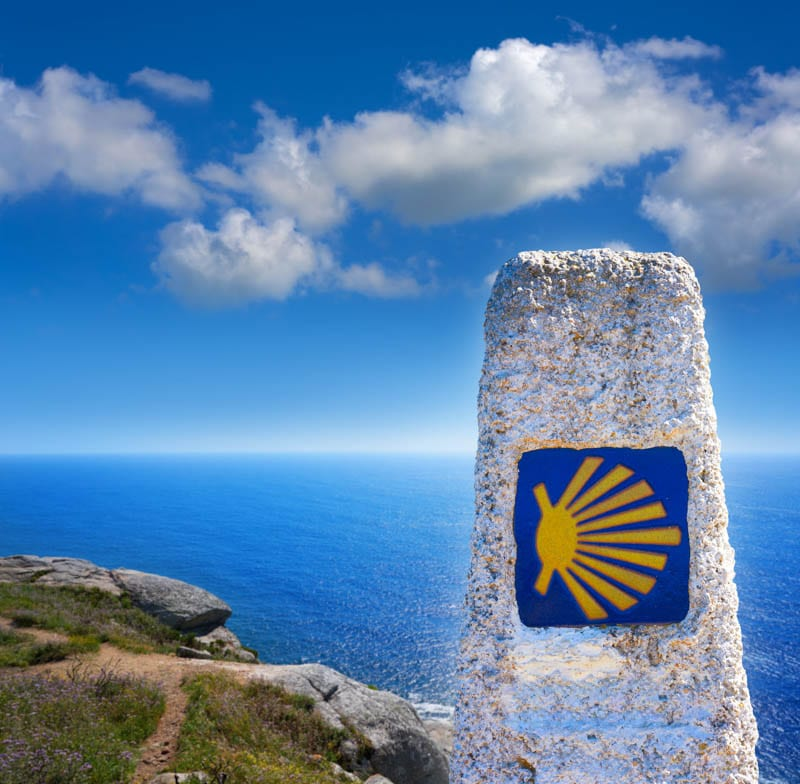 Mile Marker on the Camino
