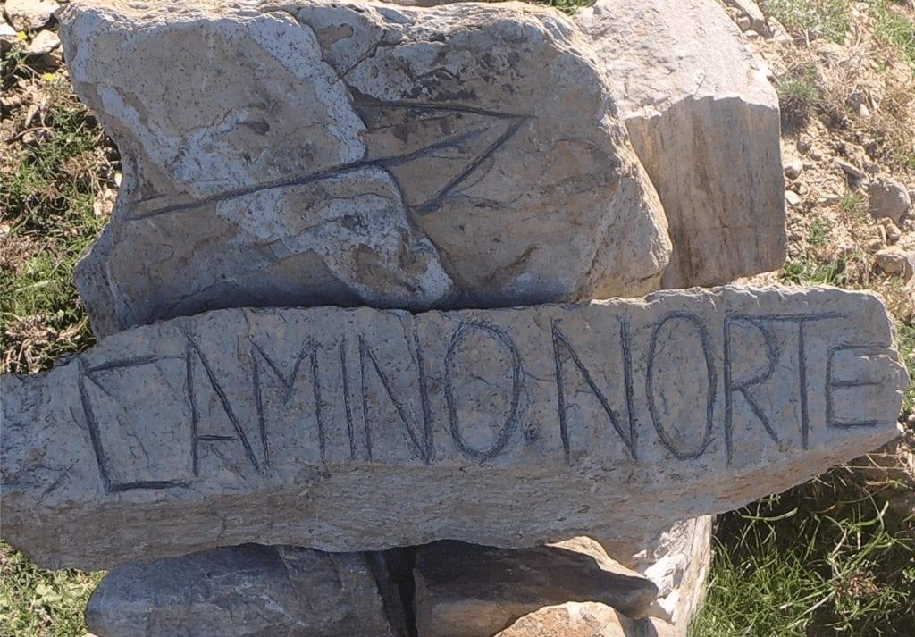 Sign on the Camino del Norte