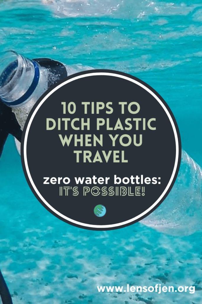 Plastic Water Bottle in Sea