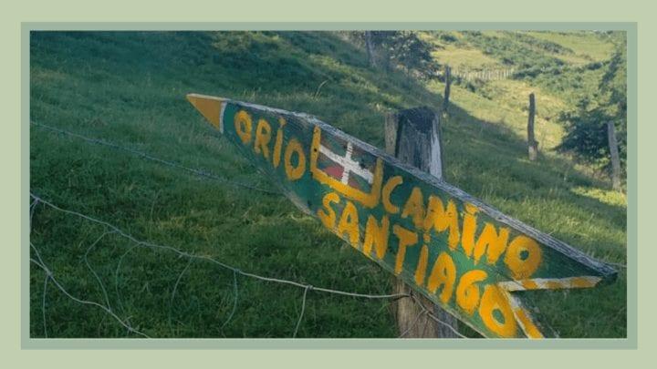 Sign on the Camino del Norte near Orio