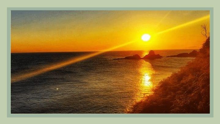 Sunrise in Deba on the Camino del Norte