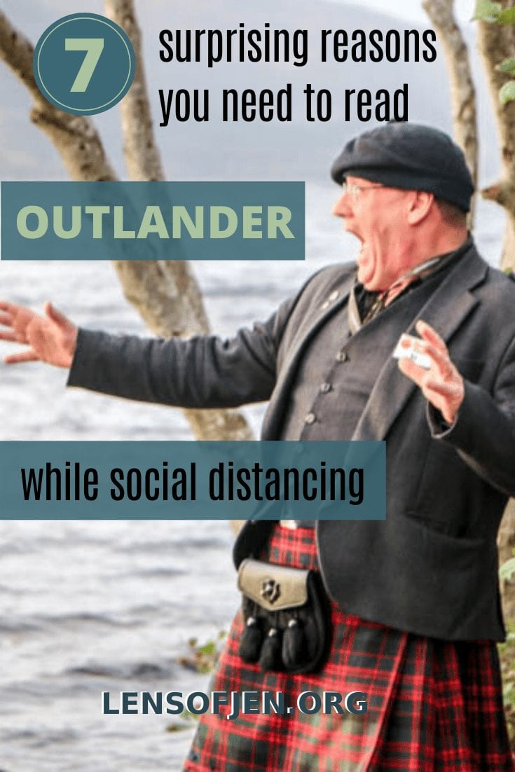 Pin for Pinterest about seven reasons to read Outlander