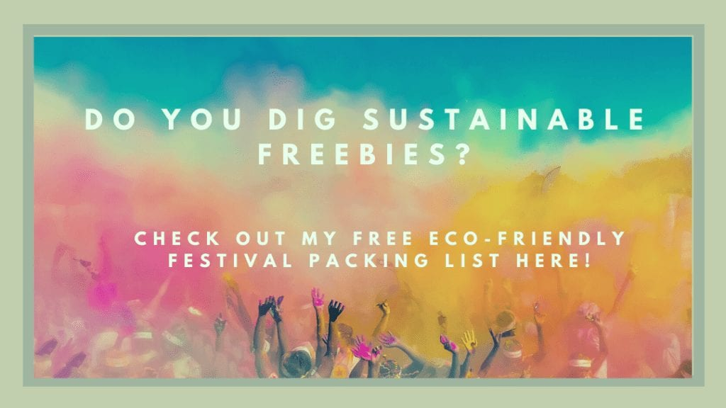 Printable, eco-friendly festival packing list