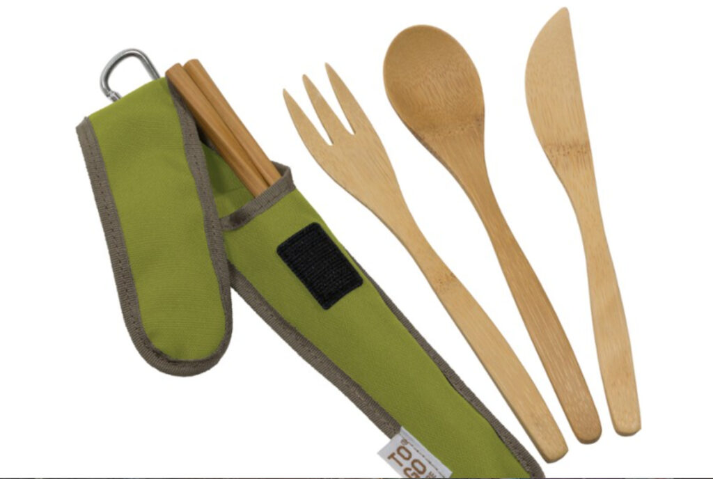 Any backpack is incomplete without bamboo utensils