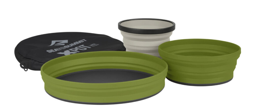 Collapsible cup, plate, and bowl