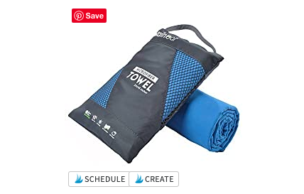 a quick-dry towel is perfect for your essential hiking kit