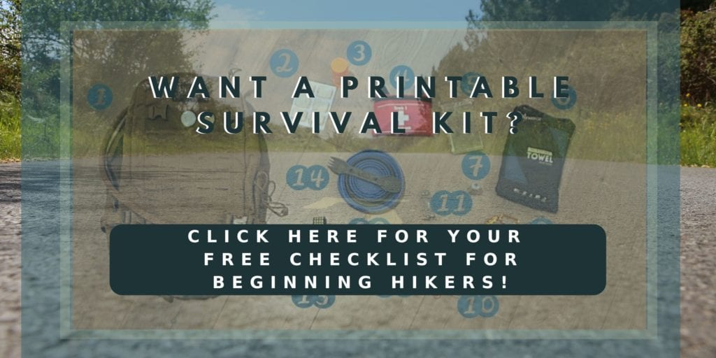 Essential Survival Kit for Beginning Hikers Checklist
