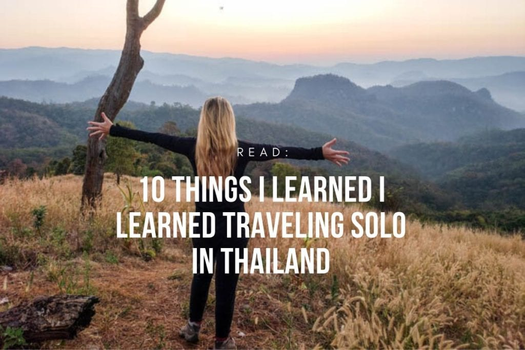 A woman solo traveling in thailand
