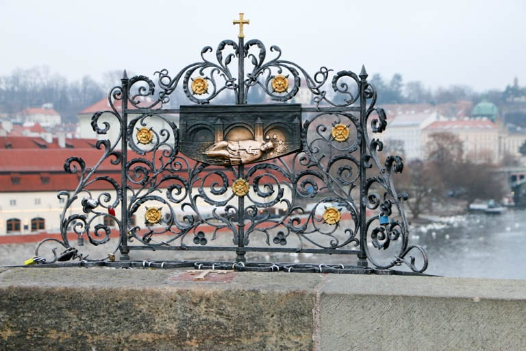 You can see St. John of Nepomuk on the Charles Bridge without the crowds