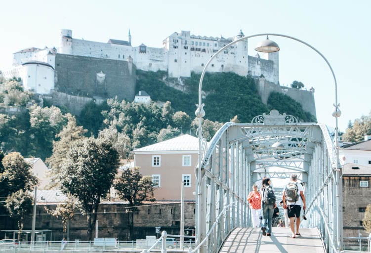 Crossing the SalzachRiver in Salzburg