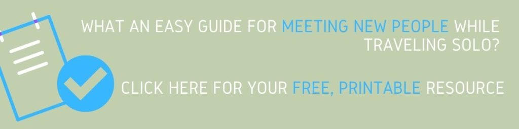 Guide for meeting people while traveling