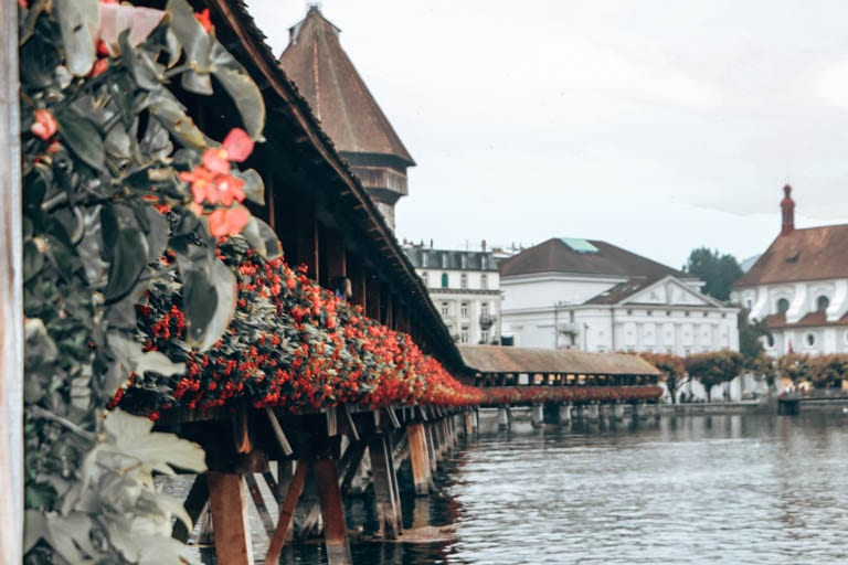 The Chapel Bridge in Lucerne has a long history to learn about when you travel deeper.