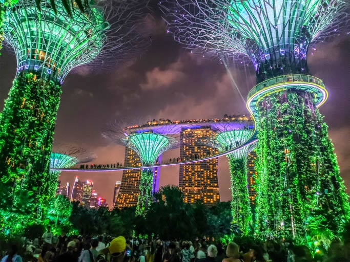 The Singapore Supertree Grove is a unique way to get elevated and travel deeper