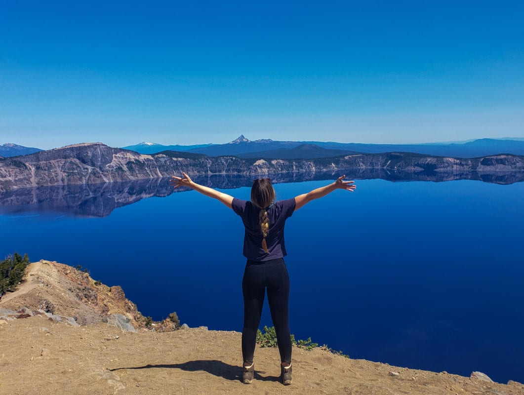 Woman at Crater Lake