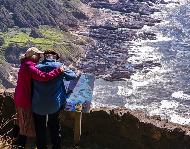 A couple at the top of Cape Perpetua
