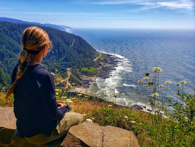 View from the Overlook at Cape Perpetua on the Central Oregon Coast