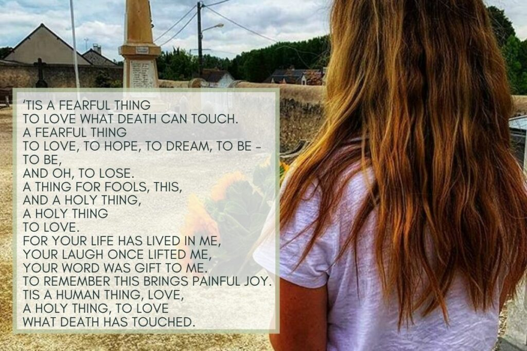 'Tis a Fearful Thing, a poem on grief