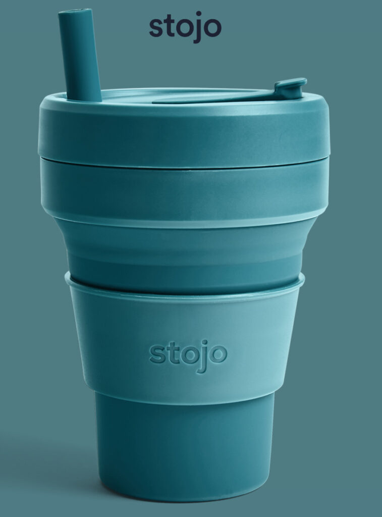 collapsible, reusable coffee cup