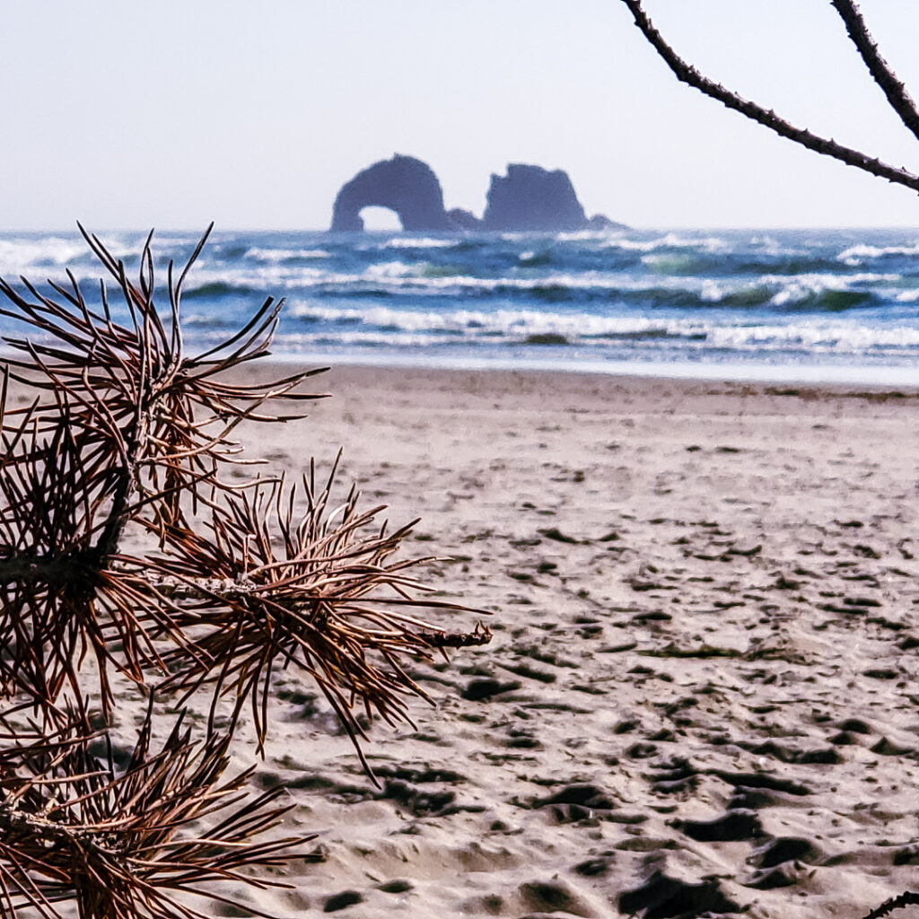 Rockaway Beach is a beautiful place to stop on the Oregon Coast