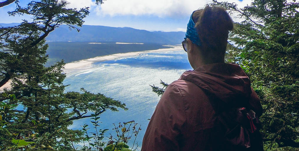 View from Cape Lookout Trail on an Oregon Coast road trip