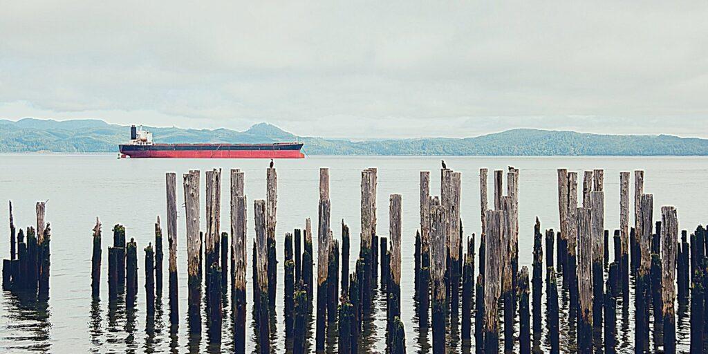 ship near Astoria, Oregon