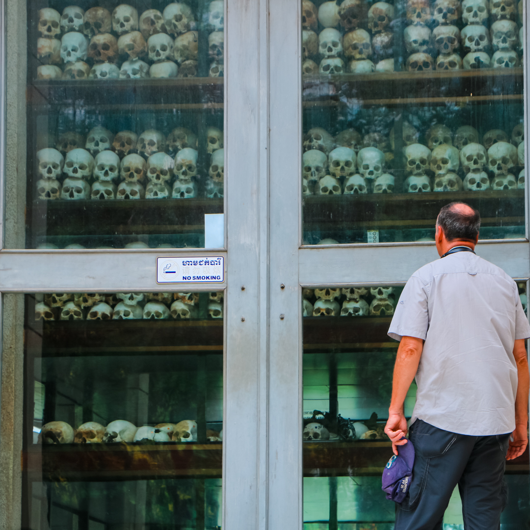 The Killing Fields of Cambodia near where the family in First They Killed My Father lived and worked