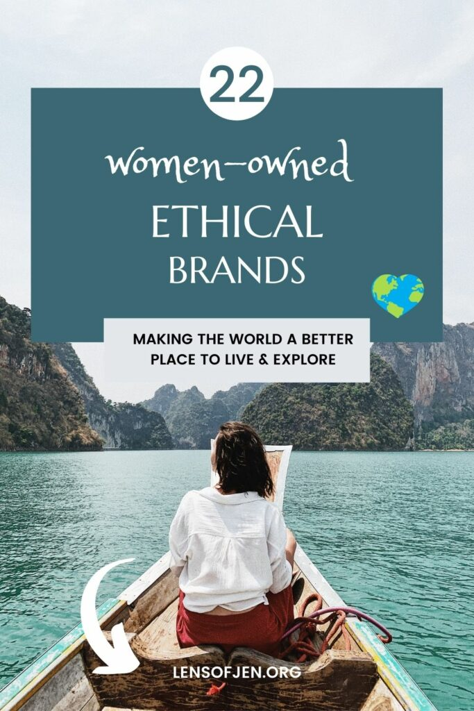 Pin for Pinterest of 22 Ethical Brands Owned by Women