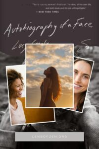 Pin for Pinterest Book Review of Autobiography of a Face