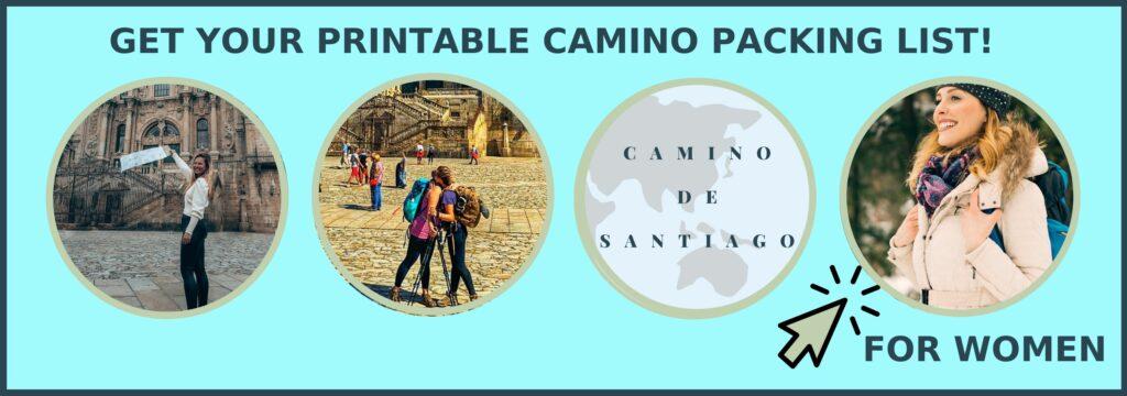 Camino de Santiago packing list opt-in form