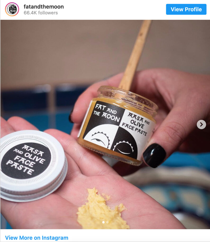 sustainable beauty products by an ethical brand on instagram