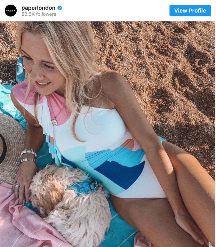 Sustainable Swimsuits on Instagram
