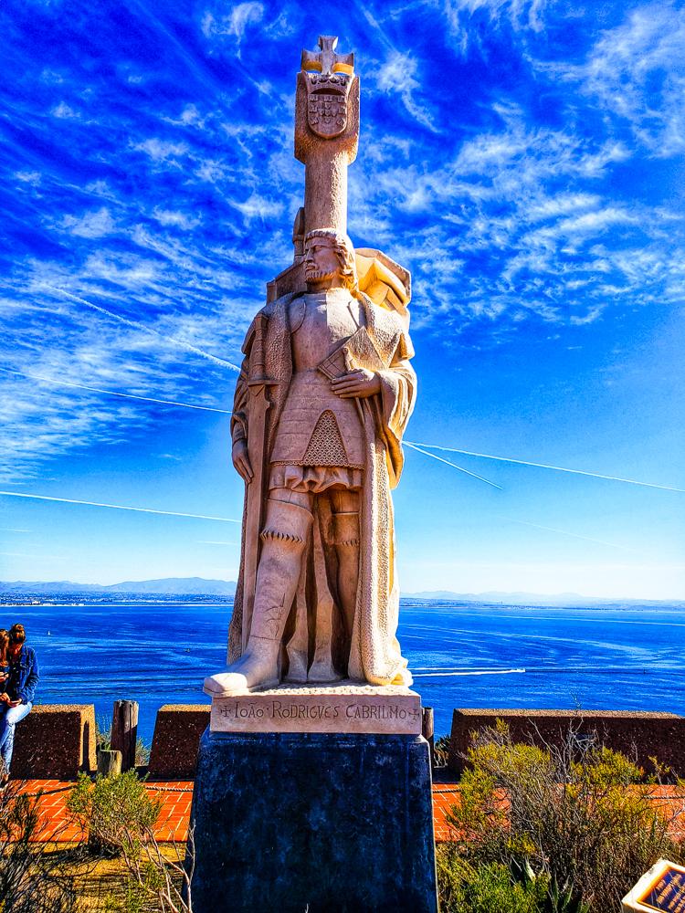 Statue of Juan Rodriguez Cabrillo at the Cabrillo National Monument