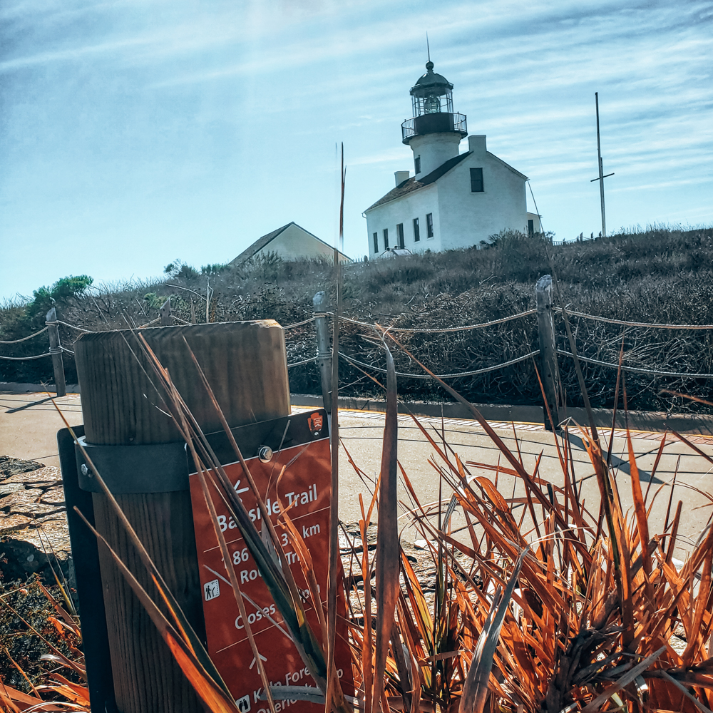 Old Point Loma Lighthouse at Cabrillo National Park