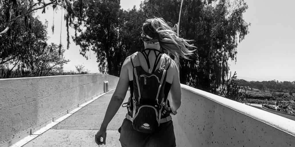 Woman on the 7 Bridges Walk