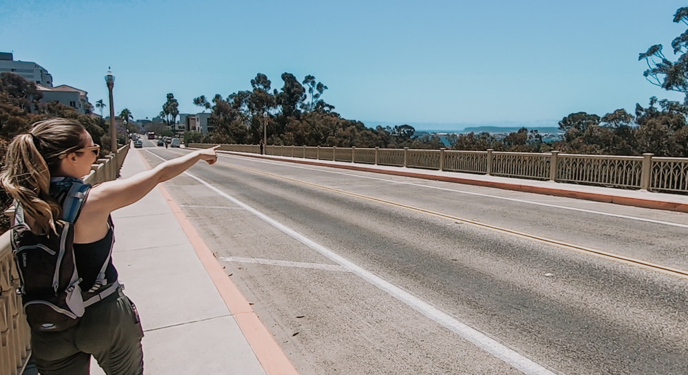 The First Avenue Bridge on the 7 bridges walk in San Diego
