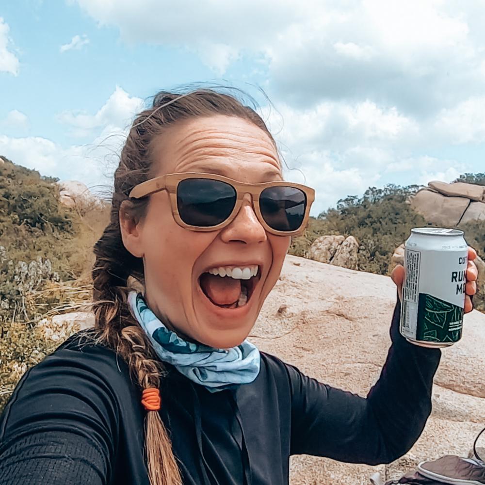 Summit beverage on the mt woodson hike