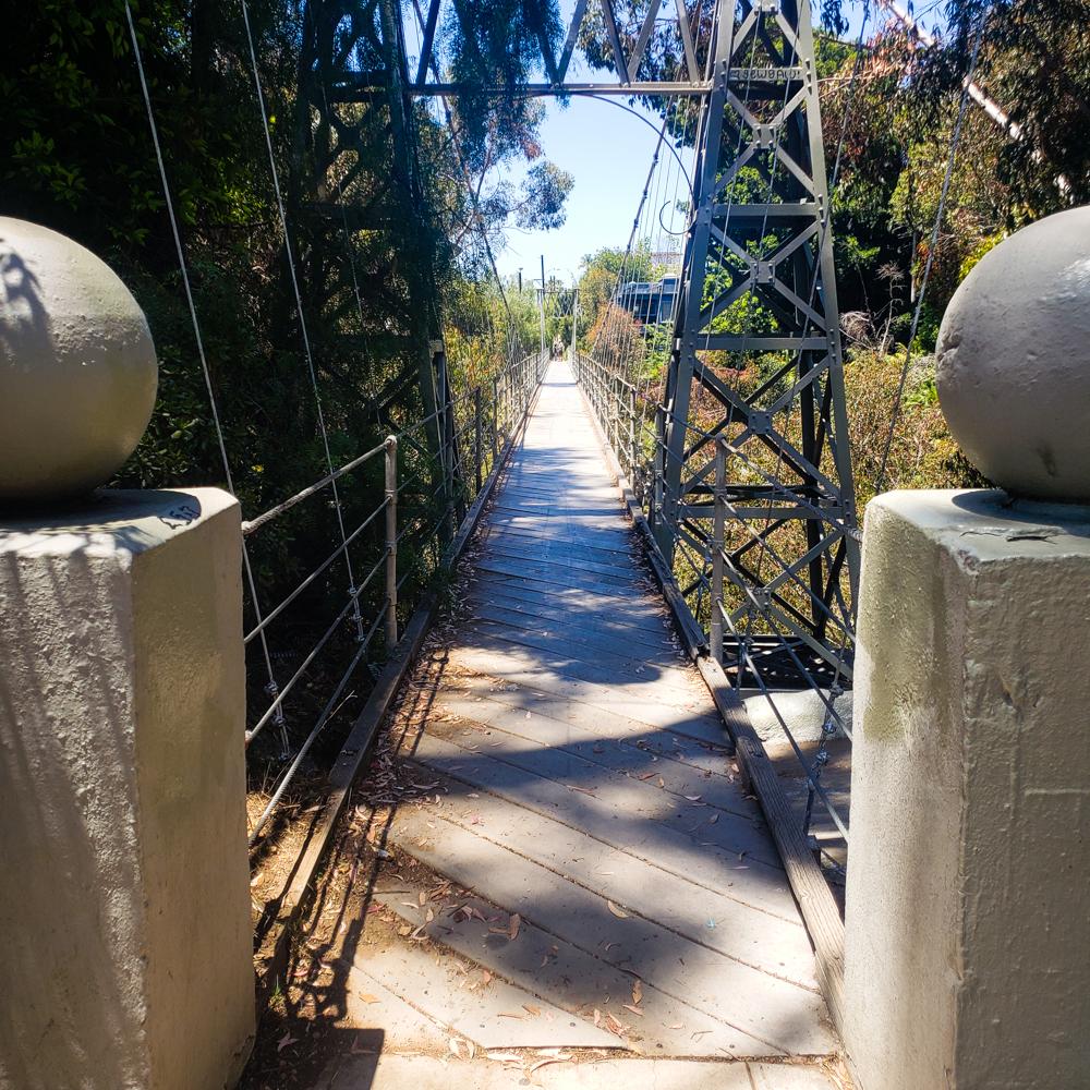 The Spruce Street Suspension Bridge on the 7 bridges walk in San Diego