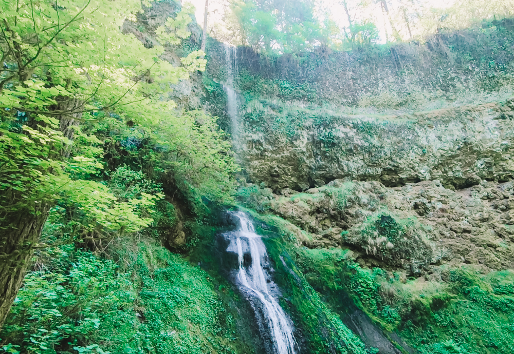 Winter Falls on Trail of Ten Falls in Oregon