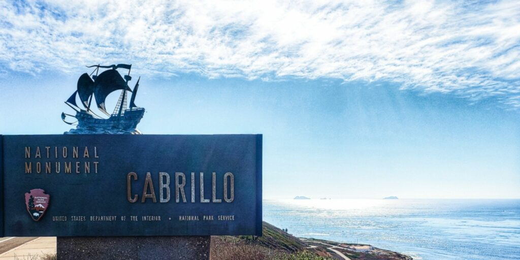Cabrillo National Monument welcome sign