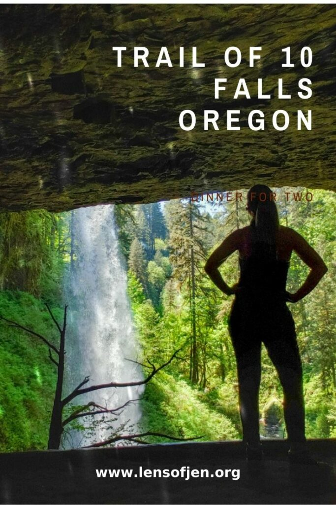 Pin for Pinterest for Trial of 10 Falls in Oregon