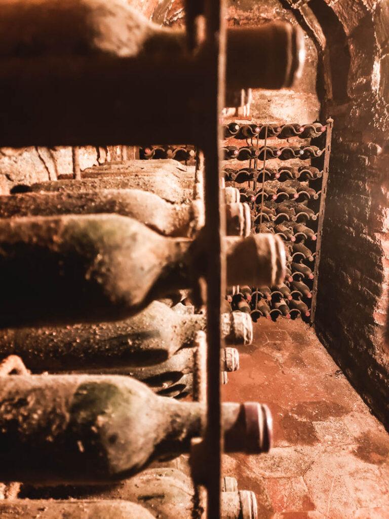 the wine cellar at Sobrino de Botín in Madrid, Hemingway's favorite restaurant